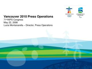 Press Operations Overview
