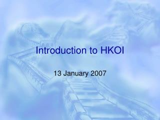 Introduction to HKOI