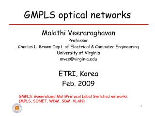 GMPLS optical networks