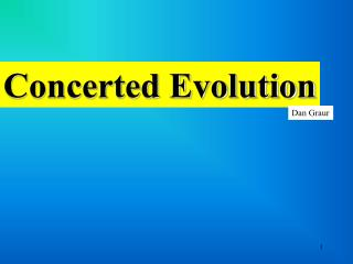 Concerted Evolution