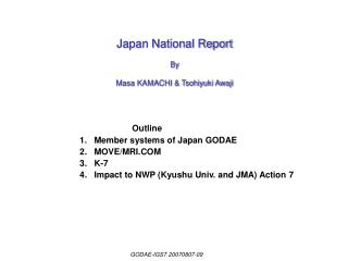 Japan National Report By Masa KAMACHI & Tsohiyuki Awaji