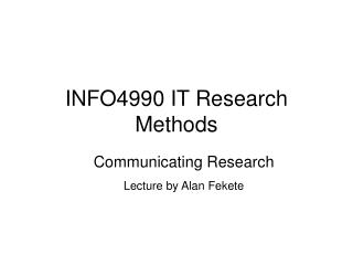 INFO4990 IT Research Methods