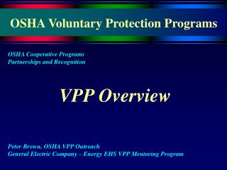 OSHA Voluntary Protection Programs