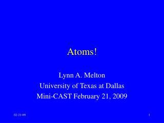 Atoms!