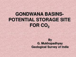GONDWANA BASINS-POTENTIAL STORAGE SITE FOR CO 2
