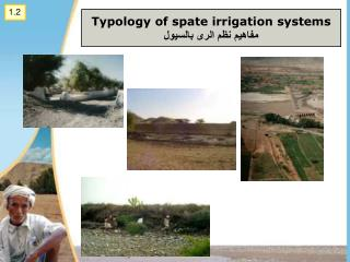 Typology of spate irrigation systems مفاهيم نظم الرى بالسيول