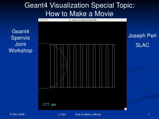 Geant4 Visualization Special Topic: How to Make a Movie