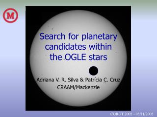 Search for planetary  candidates within  the OGLE stars