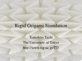 Rigid Origami Simulation