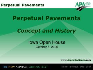 Perpetual Pavements Concept and History