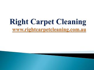 Right Carpet Cleaning Sydney