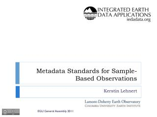 Metadata Standards for Sample-Based Observations