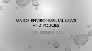 Oil Pollution Act Drafted in 1990