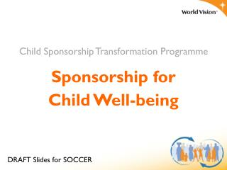 Sponsorship for Child Well-being