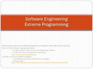Software Engineering Extreme Programming