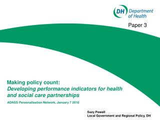 Making policy count:  Developing performance indicators for health and social care partnerships