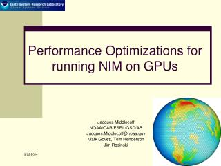 Performance Optimizations for running NIM on GPUs