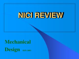 Mechanical  Design   SDN-2003