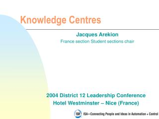 Knowledge Centres