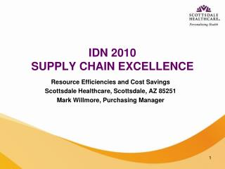 IDN 2010 SUPPLY CHAIN EXCELLENCE