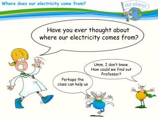 Have you ever thought about  where our electricity comes from?