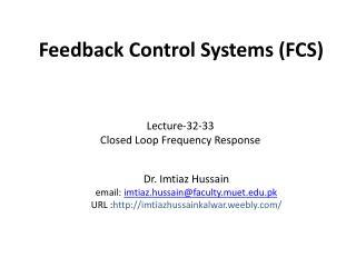 Feedback  Control  Systems ( FCS )