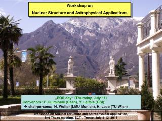 Workshop on  Nuclear Structure and Astrophysical Application ,