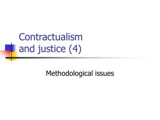Contractualism and justice (4)