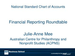 National Standard Chart of Accounts