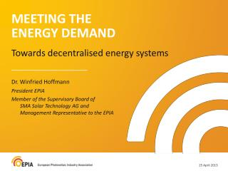 MEETING THE  ENERGY DEMAND