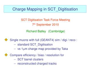 Charge Mapping in  SCT_Digitisation