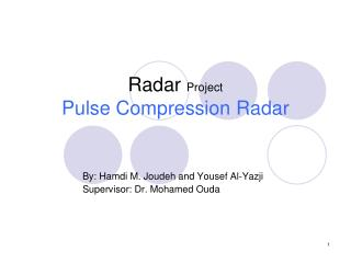 Radar  Project Pulse Compression Radar