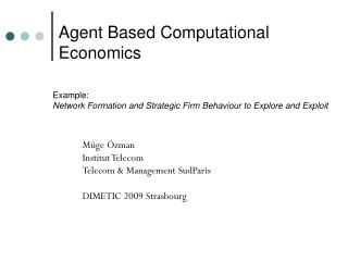 Example:  Network Formation  and  Strategic Firm Behaviour to Explore and Exploit