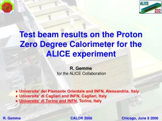 Test beam results on the Proton Zero Degree Calorimeter for the ALICE experiment