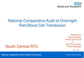 National Comparative Audit of Overnight Red Blood Cell Transfusion