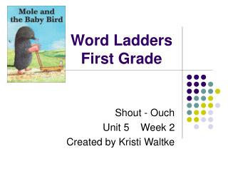 Word Ladders First Grade