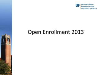 Open Enrollment 2013