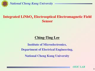 Ching-Ting Lee Institute of Microelectronics,  Department of Electrical Engineering,