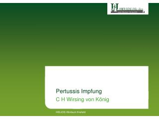 Pertussis Impfung