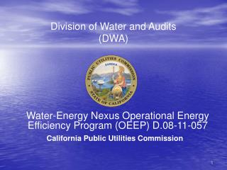 Division of Water and Audits  (DWA)