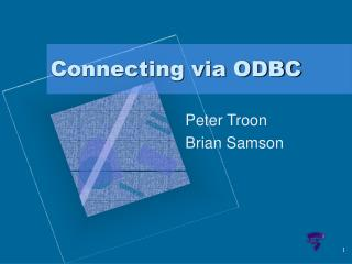 Connecting via ODBC