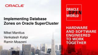 Implementing  Database Zones on Oracle  SuperCluster