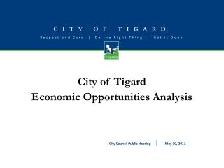 City of Tigard Economic Opportunities Analysis
