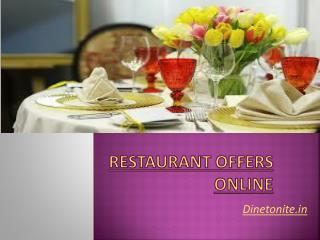 Online Restaurant Offers and Reservation Service in India-Di