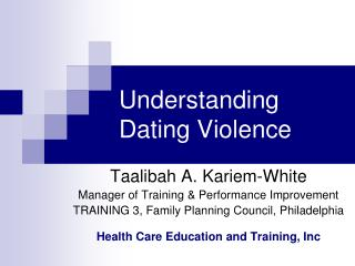 Understanding Dating Violence
