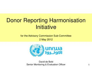 Donor Reporting Harmonisation Initiative