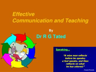 Effective  Communication and Teaching