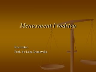 Menaxment i vodstvo