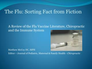 The Flu: Sorting Fact from Fiction