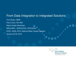 From Data Integration to Integrated Solutions